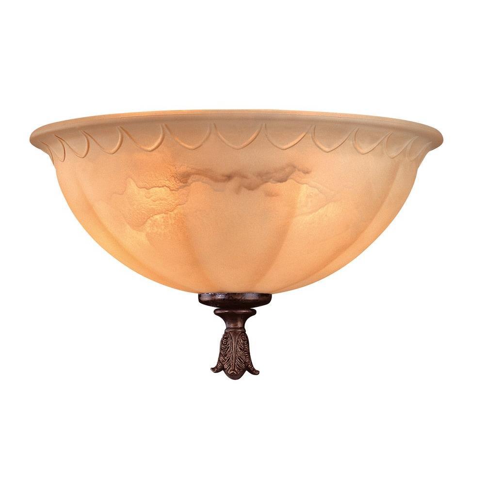 Filament Design Satin 9 in. New Tortoise Shell Ceiling Fan Light Kit