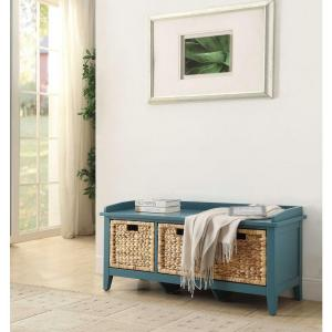 ACME Furniture Flavius Storage Bench in Teal by