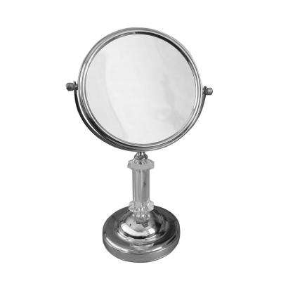 8 in. W x 13 in. H x 6 in. D Freestanding Bath Magnifying Makeup Mirror in Chrome