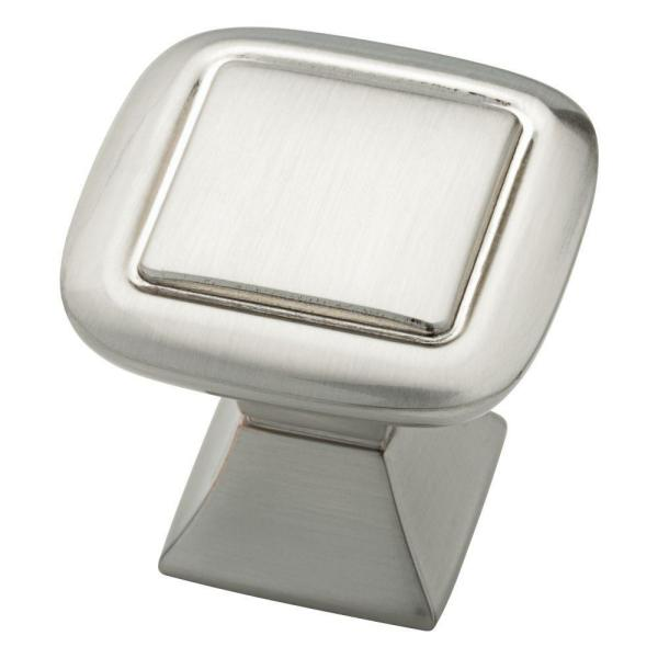 Southampton 1-1/4 in. (32mm) Satin Nickel Double Square Cabinet Knob
