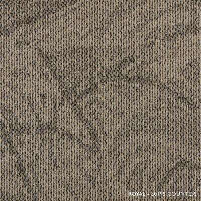 Royal Countess Loop 19.68 in. x 19.68 in. Carpet Tile (8 Tiles/Case)