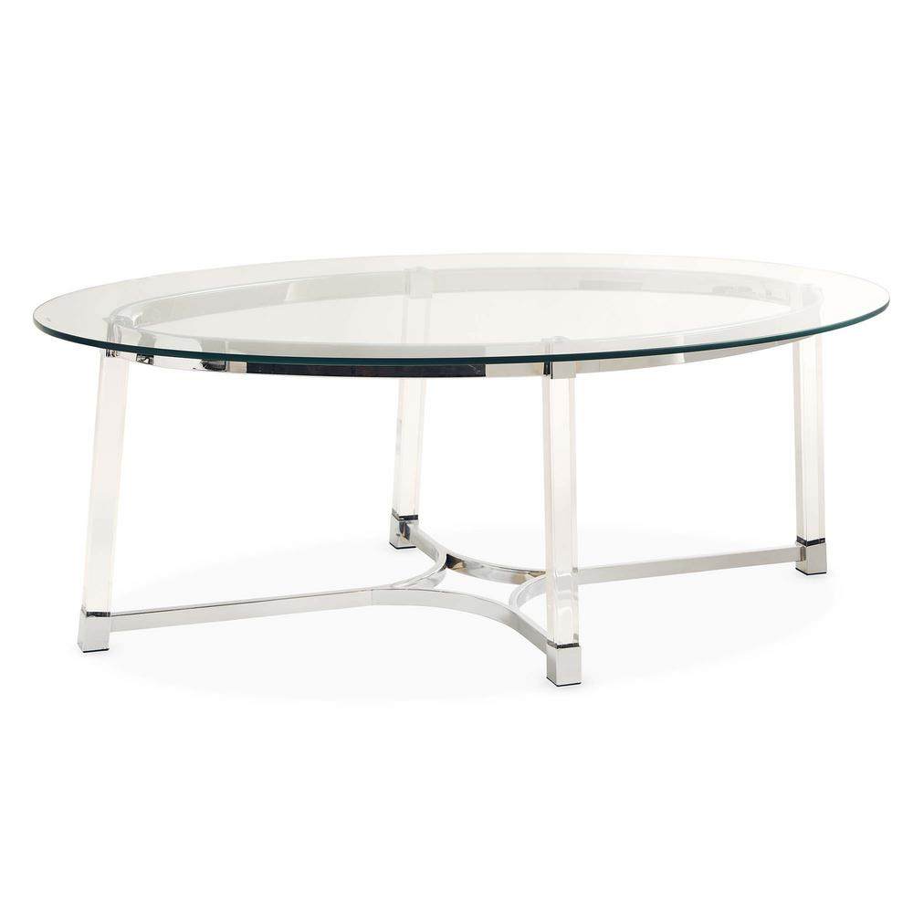 Picket House Furnishings Sophia Clear Coffee Table, None The Picket House Furnishings Sophia Coffee Table is just what your living room is missing. This super stylish coffee table will easily pair with any decor or existing furnishings. The accent table features an oval, glass table top that is supported by a metal base. The legs on this coffee table are acrylic, making it easy for this table to become a staple in your home year after year. The base of the table is also metal and in a chrome finish. Sleek in design, this table needs to be in your home right away. Color: None.