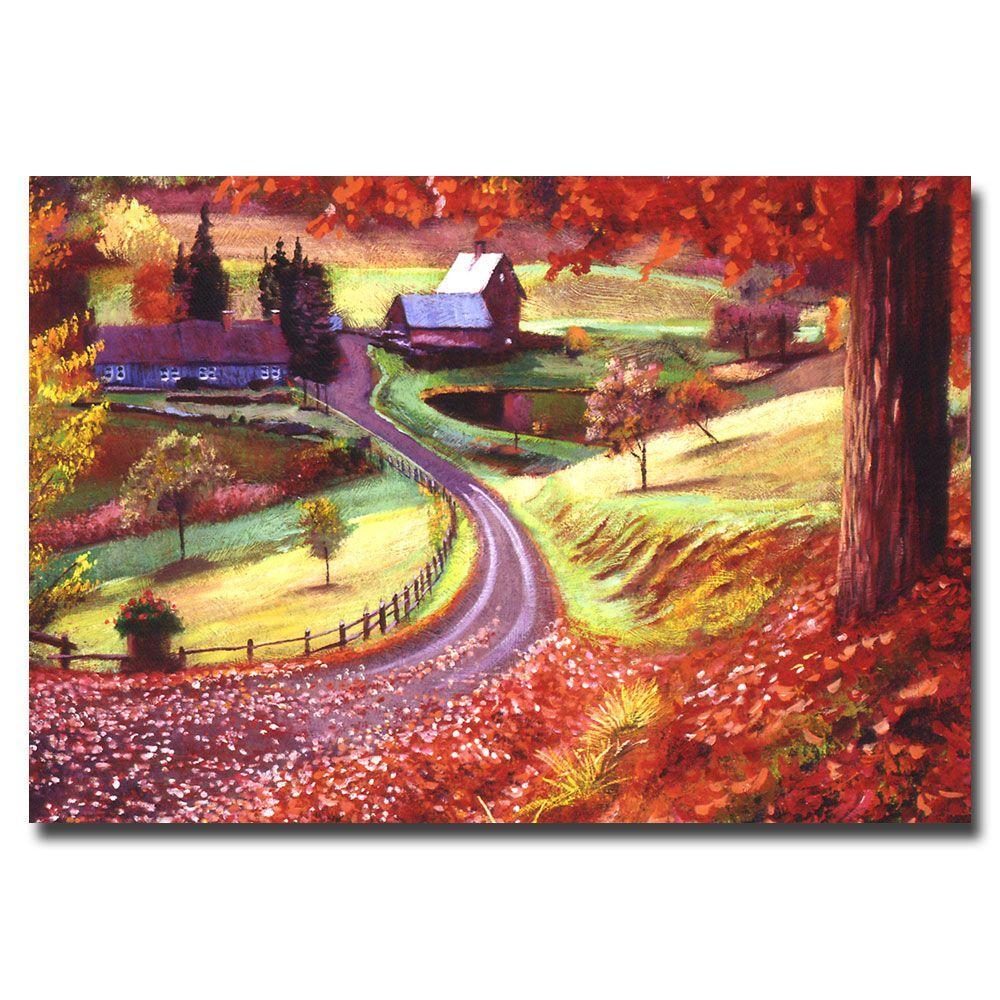 Trademark Fine Art 22 in. x 32 in. Road to Maplegrover Farms Canvas Art
