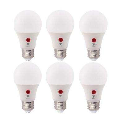 60-Watt Equivalent A19 800 Lumens Dusk To Dawn LED Light Bulbs, Soft White 3000K (6-Pack)