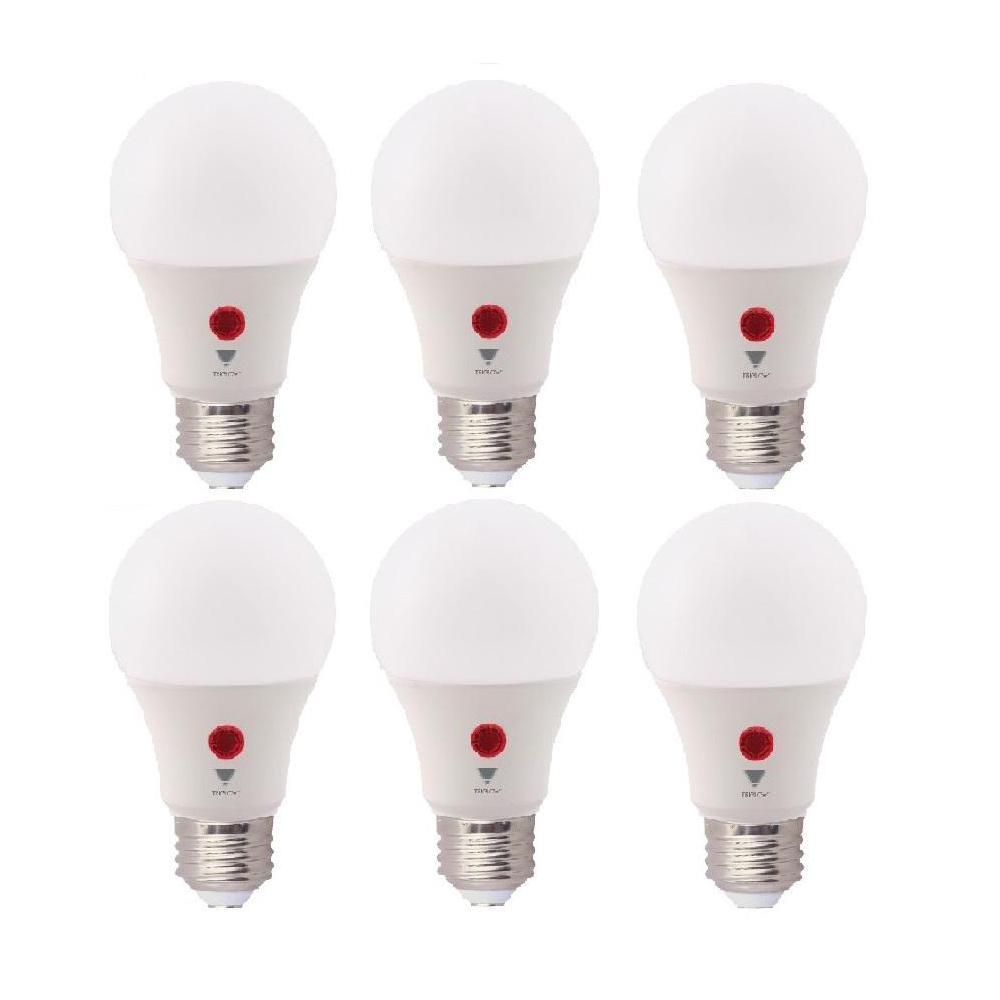 60-Watt Equivalent A19 800 Lumens Dusk To Dawn LED Light Bulbs, Soft White 3000K (6-Pack)