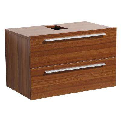 Medio 32 in. Bathroom Vanity Cabinet Only in Teak