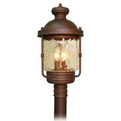 4-Light Burnished Bronze Outdoor Post Light