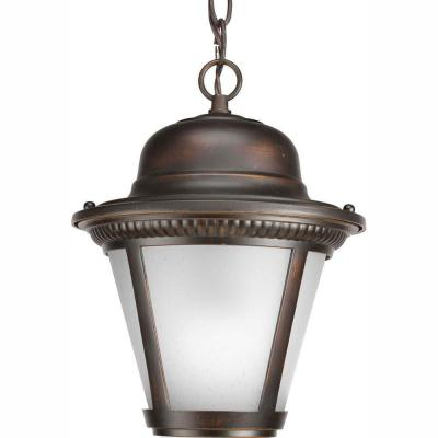 Westport Collection 1-Light Outdoor Antique Bronze LED Hanging Lantern