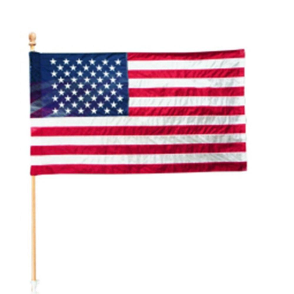 Seasonal Designs 2-1/2 ft. x 4 ft. Polycotton U.S. Flag Kit