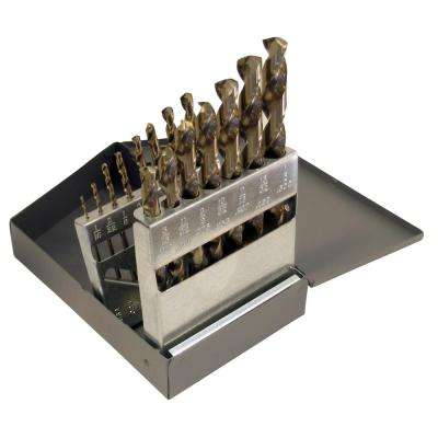1802 Cobalt Heavy-Duty 135-degree Split Point 1/16 in. - 1/2 in. x 32 Bit Set (15-Piece)