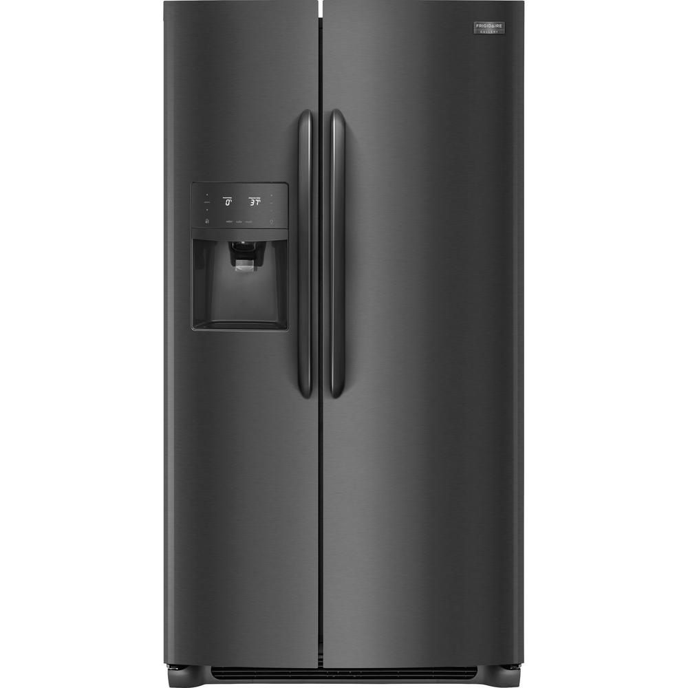 FRIGIDAIRE GALLERY 25.6 cu. ft. Side by Side Refrigerator in Black Stainless Steel