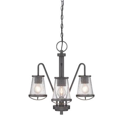 Darby 3-Light Weathered Iron Chandelier