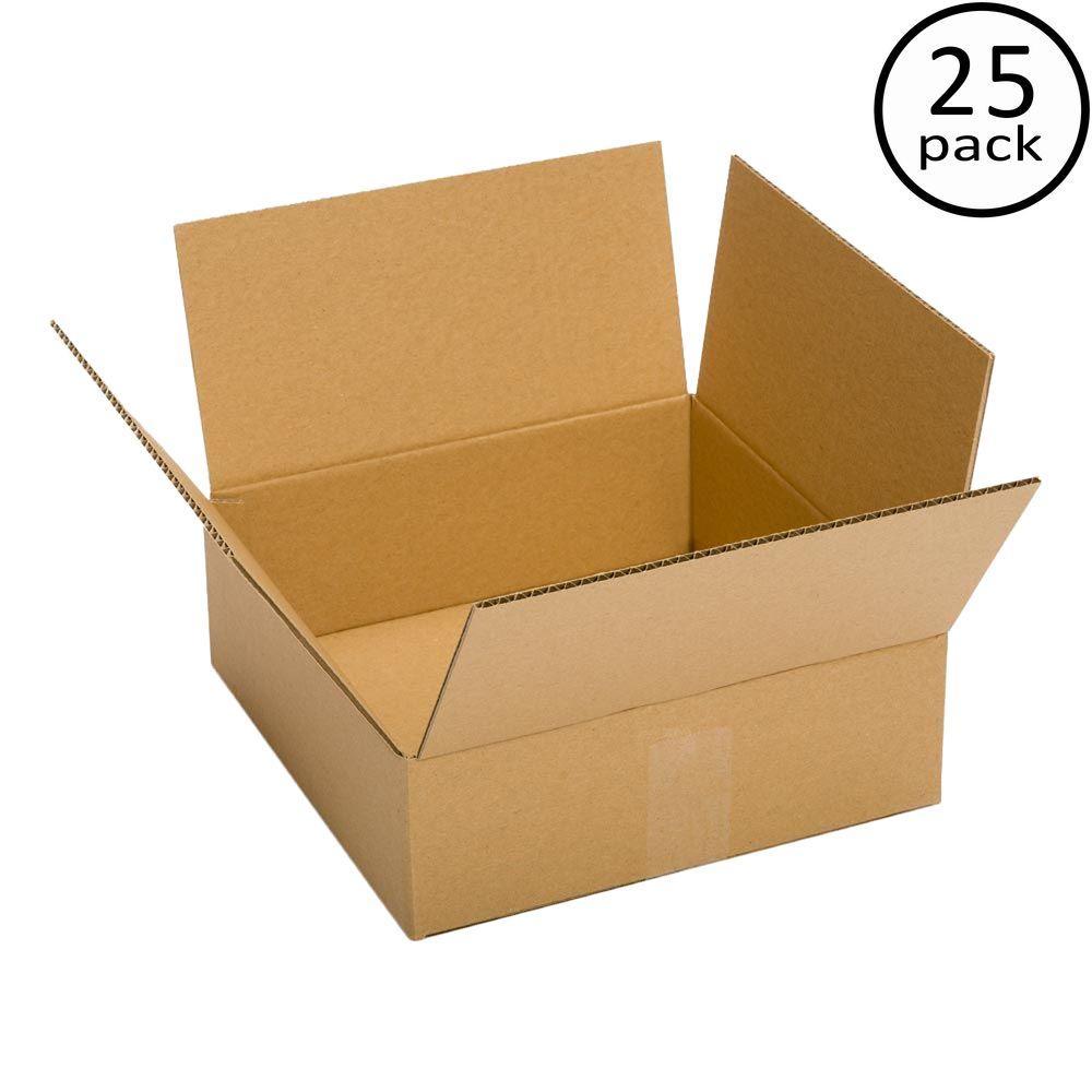 10 in. L x 10 in. W x 4 in. D Box (25-Pack)