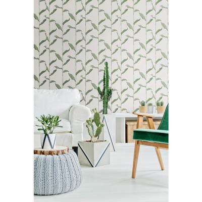 Nomad Collection Stalks in Linen Removable and Repositionable Wallpaper
