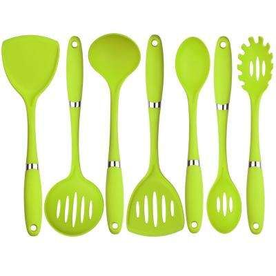 7-Piece Nylon Utensil Set in Green