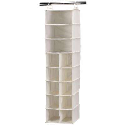 10-Pocket 3 Shelf Canvas Hanging Organizer