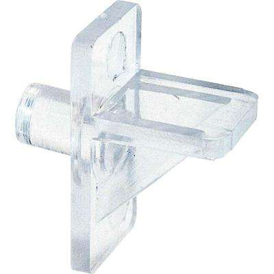5 lb. 1/4 in. Clear Plastic Shelf-Support Pegs (8-Pack)