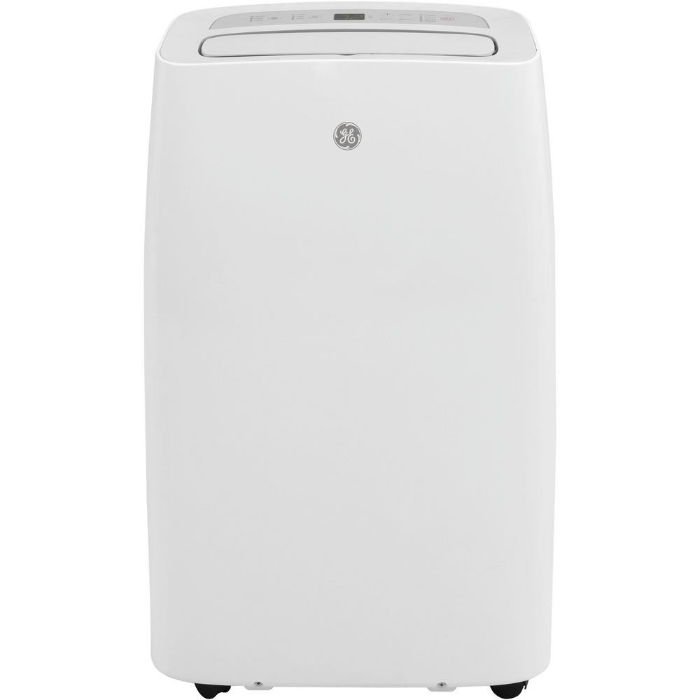 GE 12,000 BTU (7,800 BTU, DOE) Portable Air Conditioner with Dehumidifier and Remote in White