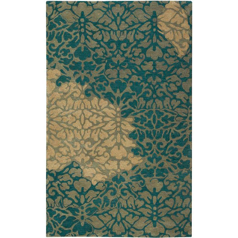 Home Decorators Collection Savannah Green 5 ft. 3 in. x 8 ft. 3 in. Area Rug