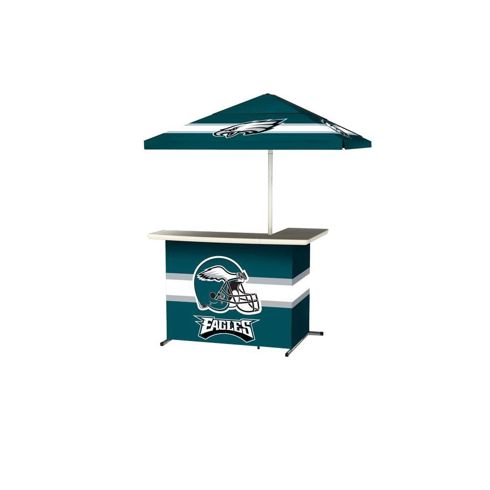 Best Of Times Philadelphia Eagles All Weather L Shaped Patio Bar With 6 Ft