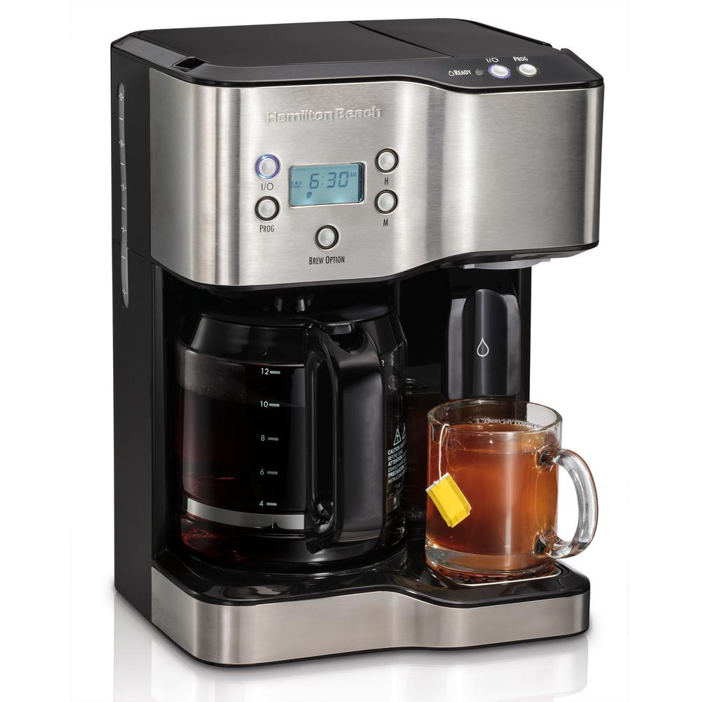 Hamilton Beach Programmable 12 Cup Coffee Maker And Hot Water