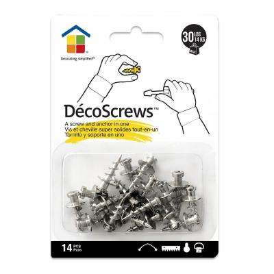 Deco Screws Nickel 30 lbs. Project Pack