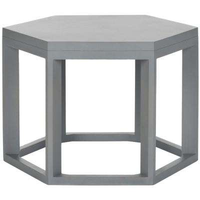 Heidi Pearl Blue Gray End Table