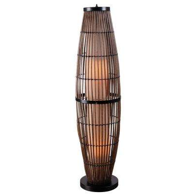 Rattan Outdoor Floor Lamp