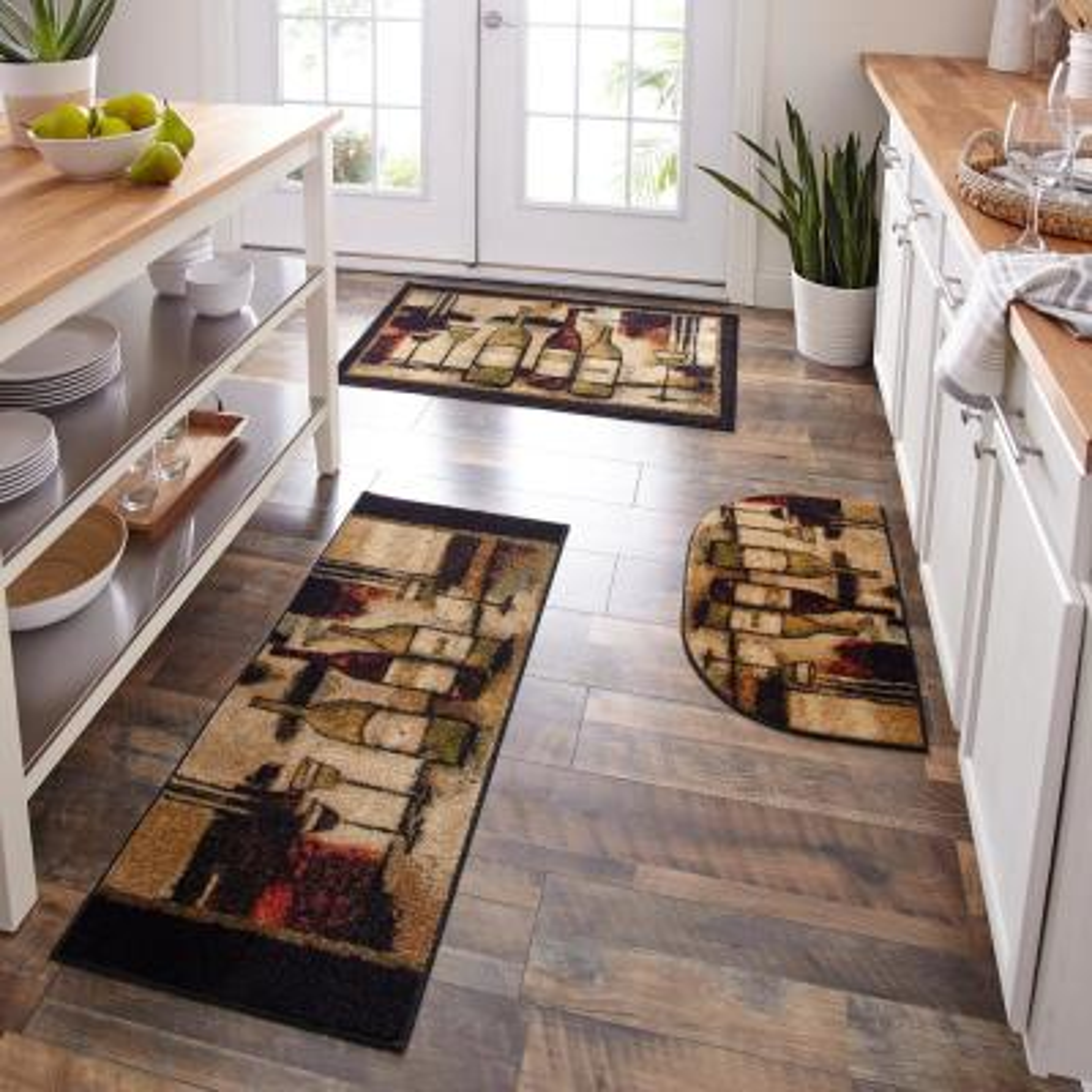 Rectangle Tile Farmhouse Kitchen Mats Mats The Home Depot
