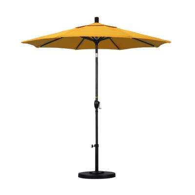 7-1/2 ft. Fiberglass Push Tilt Patio Umbrella in Lemon Olefin