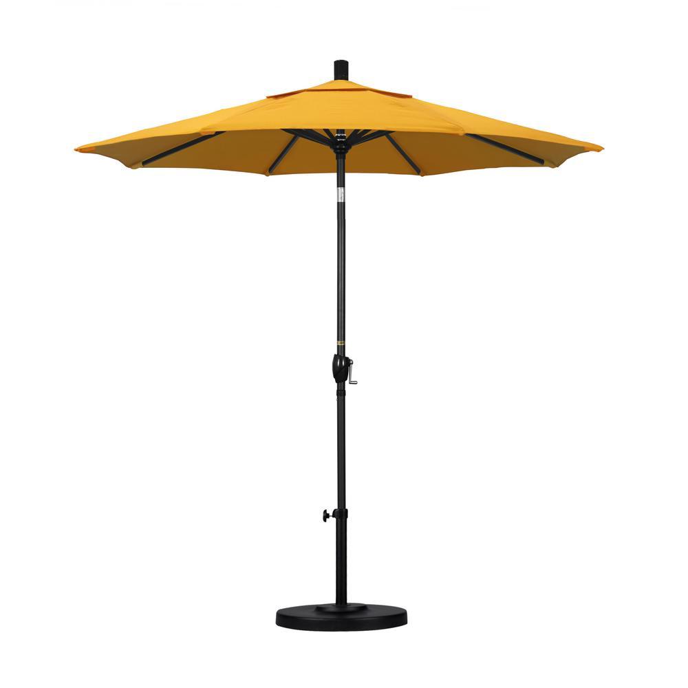 7-1/2 ft. Fiberglass Push Tilt Patio Umbrella in Lemon Olefin