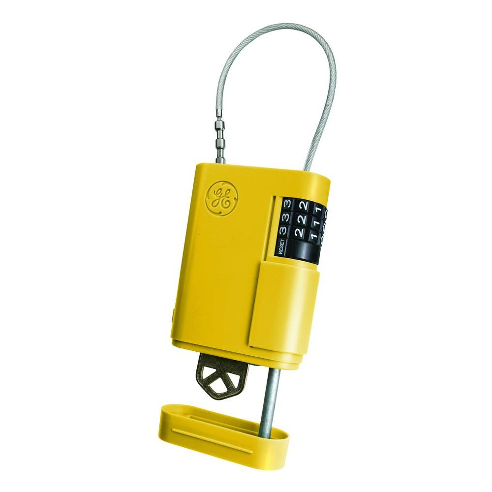 Stor-A-Key Locking Key Case with Cable, Yellow