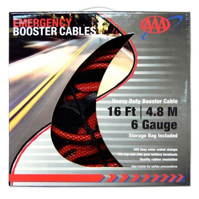 16 ft. 6 Gauge Emergency Booster Cables