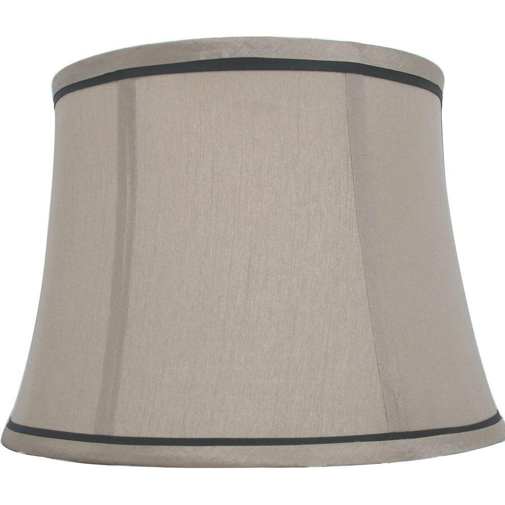 Hampton Bay Mix U0026 Match Brown Trim Round Bell Table Shade