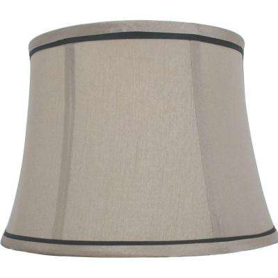 Mix U0026 Match Brown Trim Round Bell Table Shade