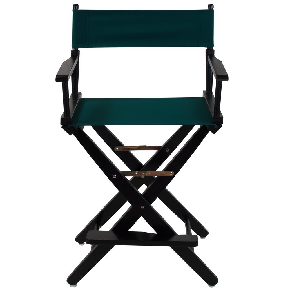 Extra-Wide 24 in. Black Frame/Hunter Green Canvas American Hardwood Directors