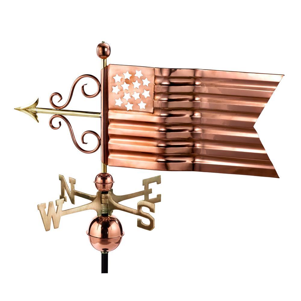 American Flag Weathervane - Pure Copper