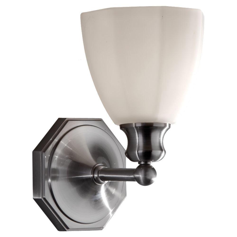 Feiss Nella 1-Light Brushed Steel Vanity Light