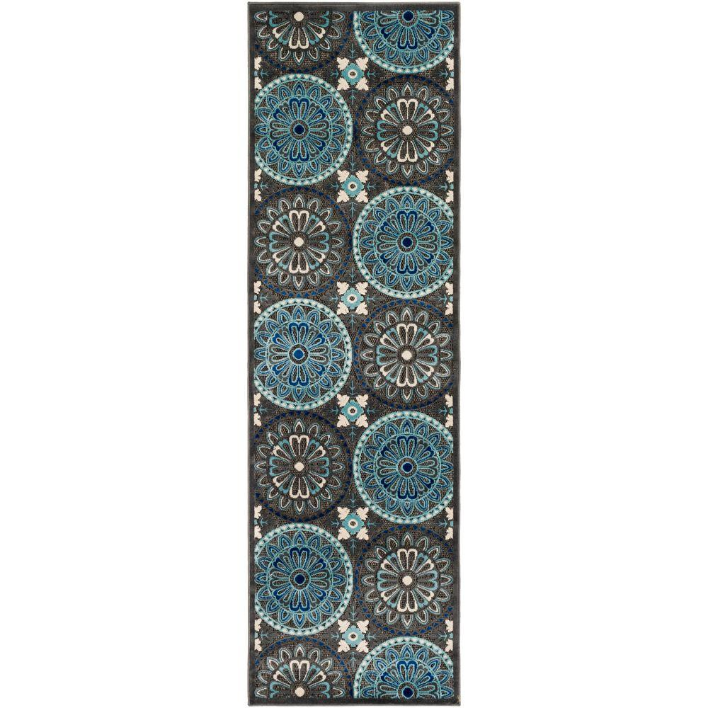 artistic weavers meliax navy 3 ft x 8 ft indoor outdoor runner rug s00151085638 the home depot. Black Bedroom Furniture Sets. Home Design Ideas