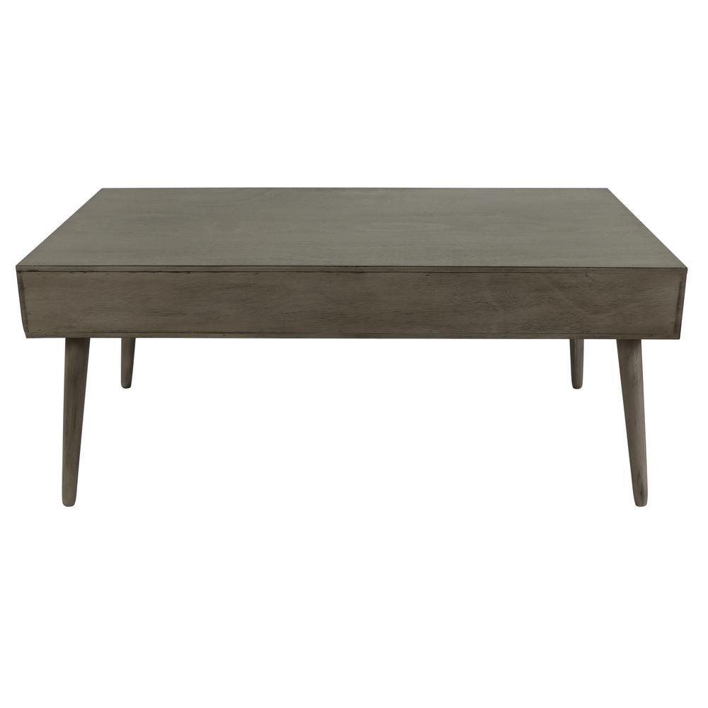 Decor Therapy Mid Century Modern Restoration Gray Coffee Table ...