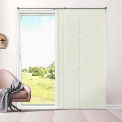 Cut-to-Length Eclipse Honeymilk Cordless Polyester Panel - 80 in. W x 96 in. L