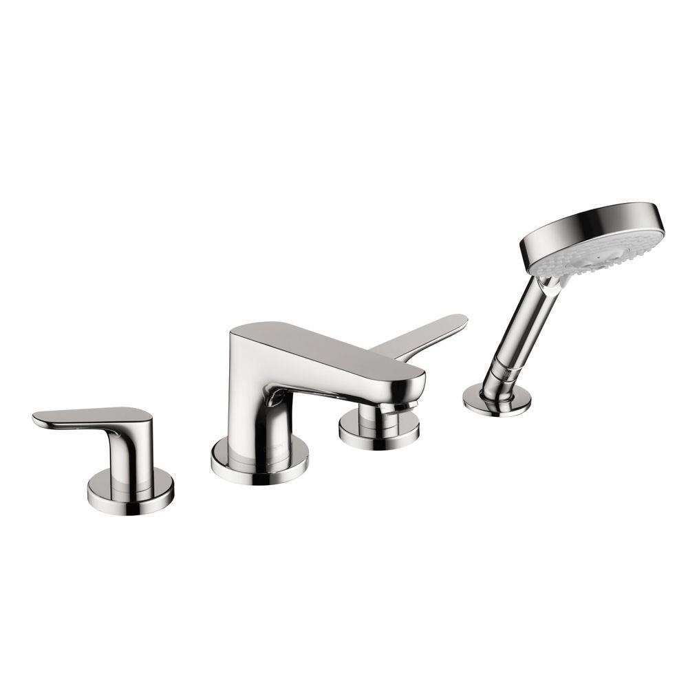 hansgrohe focus 2 handle deck mount roman tub faucet in. Black Bedroom Furniture Sets. Home Design Ideas