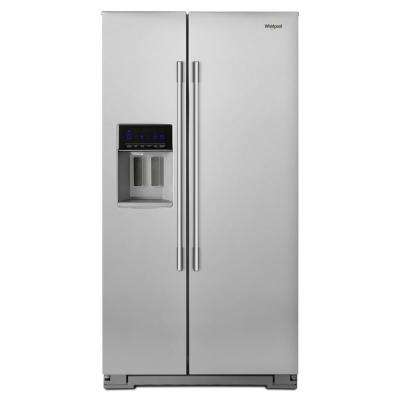 36 in. W 21 cu. ft. Side by Side Refrigerator in Fingerprint Resistant Stainless Steel, Counter Depth
