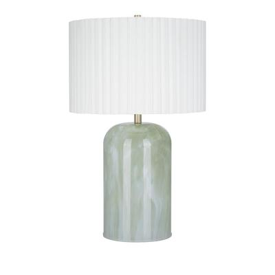 30.25 in. Emerald Contemporary Table Lamp and LED Bulb