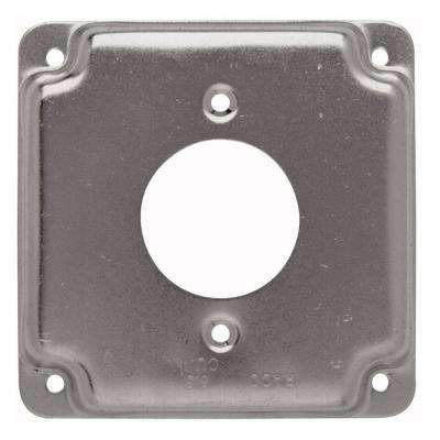 4 in. Square Cover, Exposed Work, 1.62 in. dia. 20A Receptacle (10-Pack)
