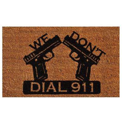 Dial 911 Door Mat 17 in. x 29 in.