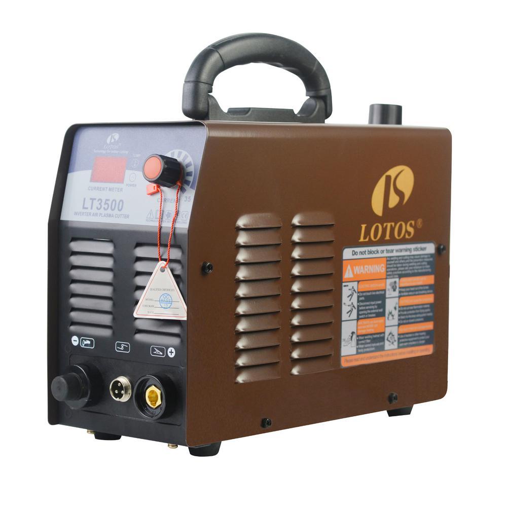 Lotos 35 Amp Compact Inverter Plasma Cutter for Metal, 110V/120V Standard Wall Plug, 2/5 inch Clean Cut