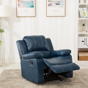 Fantastic Clifton Navy Blue Faux Leather Recliner 8070 10 The Home Depot Gmtry Best Dining Table And Chair Ideas Images Gmtryco