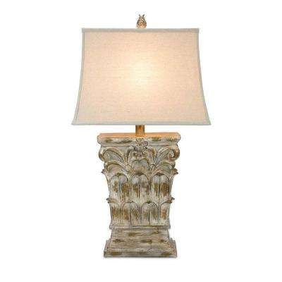 Lenor 31 in. Nickel Table Lamp
