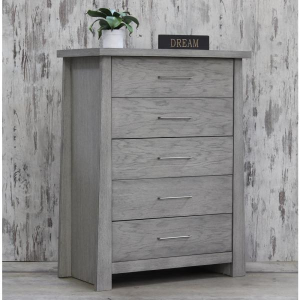 Fusion 5 Drawer Driftwood Chest 8124dw The Home Depot